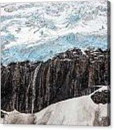 Glacial Edge Waterfall Acrylic Print