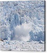 Glacial Ice Calving Into The Water Acrylic Print