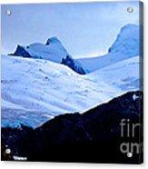 Glacier Cracks Acrylic Print