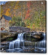 Glade Creek Grist Mill At Babcock Acrylic Print by Williams-Cairns Photography LLC