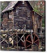 Glade Creek Grist Mill Series II Acrylic Print