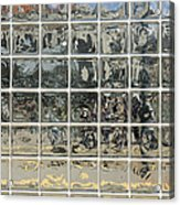 Glass Block Wall Acrylic Print
