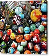 Glass Jar And Marbles Acrylic Print