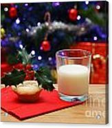 Glass Of Milk And A Mince Pie For Santa Acrylic Print