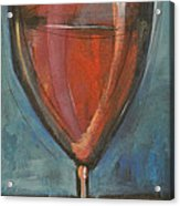 Glass Of Red Acrylic Print by Tim Nyberg