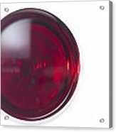 Glass With Red Wine Acrylic Print