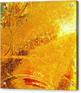 Glassworks Series-gold I Acrylic Print