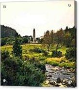 Glendalough Stream And Tower Acrylic Print