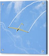 Glider Aerobatics Against Blue Sky Canvas Poster Photo Print Acrylic Print