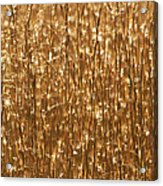 Glistening Gold Prairie Grass Abstract Acrylic Print