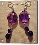 Glitter Me Purple Earrings Acrylic Print by Jenna Green
