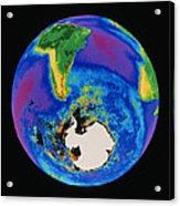 Global Biosphere, Southern Hemisphere, From Space Acrylic Print