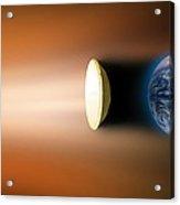 Global Warming Sun Shield, Artwork Acrylic Print