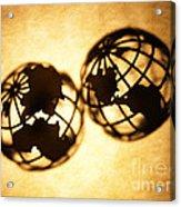 Globe 2 Acrylic Print by Tony Cordoza