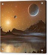 Globular Cluster, Artwork Acrylic Print