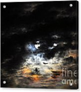 Glorious Gibbous - Wide Version Acrylic Print