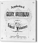 Glory, Hallelujah Acrylic Print by Photo Researchers
