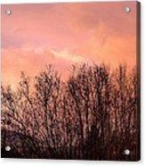 Glow Of A Winter Sunset Acrylic Print