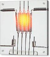 Glowing Filament 3 Of 4 Acrylic Print