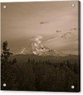 Glowing Mt. Hood Acrylic Print by Melissa  Maderos