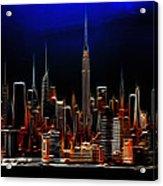 Glowing New York Acrylic Print