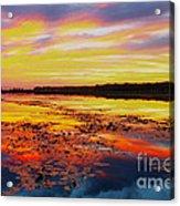 Glowing Skies Over Crews Lake Acrylic Print