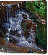 Gnoll Cascades Acrylic Print by Julie L Hoddinott
