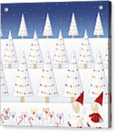 Gnomes - December Acrylic Print