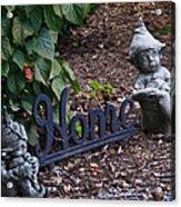 Gnomes At Home Acrylic Print