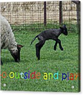 Go Outside And Play Rainbow Acrylic Print