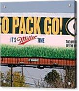 Go Pack Go Acrylic Print