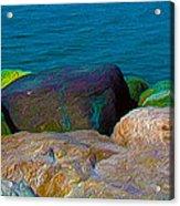 Goa Sea Front Rocks Acrylic Print