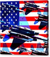 God Bless America Land Of The Free Acrylic Print