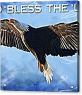 God Bless The Usa Acrylic Print
