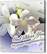 God Bless You On Your Confirmation Floral Greeting Card Acrylic Print