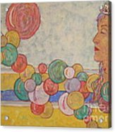 Goddess And The Ducky Acrylic Print
