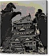 Godzilla And King Kong Hanging Out In Tokyo Acrylic Print