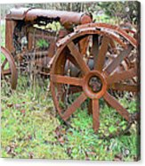 Going Green With Fordson  Acrylic Print by Pamela Patch