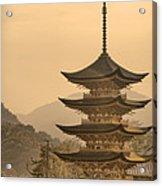 Goju-no-to Pagoda Acrylic Print by Karen Walzer