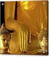 Gold Buddha Figures Acrylic Print