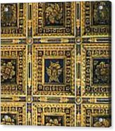 Gold Cathedral Ceiling Italy Acrylic Print