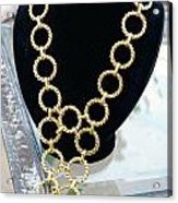Gold Daisy Chain Acrylic Print