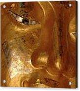 Gold Face Of Buddha Acrylic Print