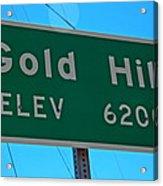Gold Hill Acrylic Print