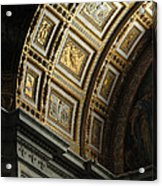Gold Inlay Arches St. Peter's Basillica Acrylic Print