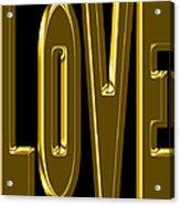 Gold Love Acrylic Print