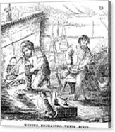 Gold Mining Camp, 1853 Acrylic Print