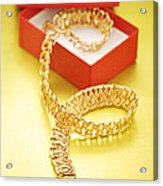 Gold Necklace Acrylic Print