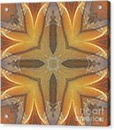 Golden Abstarct Energy Acrylic Print