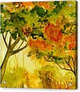 Golden Autumn Day Acrylic Print